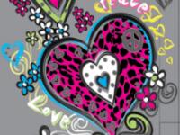 Леопардовые сердечки, неон