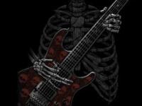 Скелет, гитара