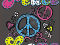 Love Peace, неон